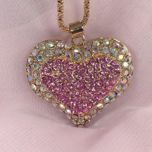 Crystal encrusted Heart Necklace